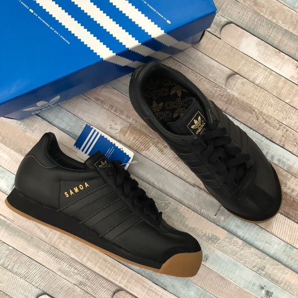 Black/Gold/Gum Bottom Adidas Samoa's